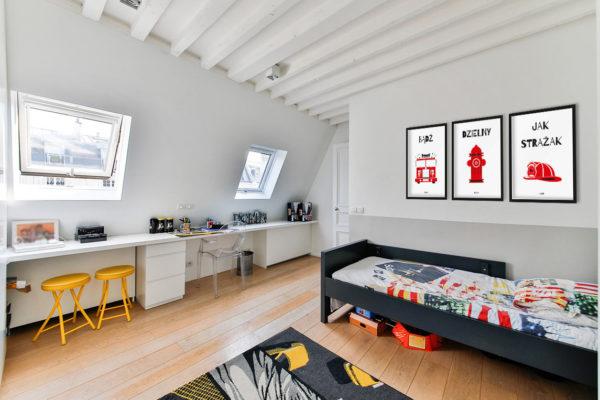 plakaty dla dzieci dekoracje pokój chłopca strażak e