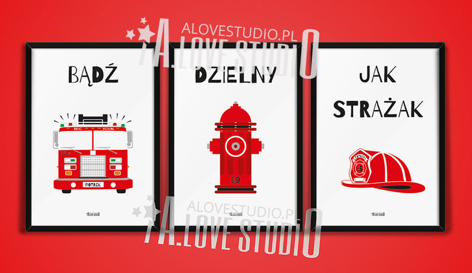 Pokój strażacki dla chłopca Piotrek alovestudio pl