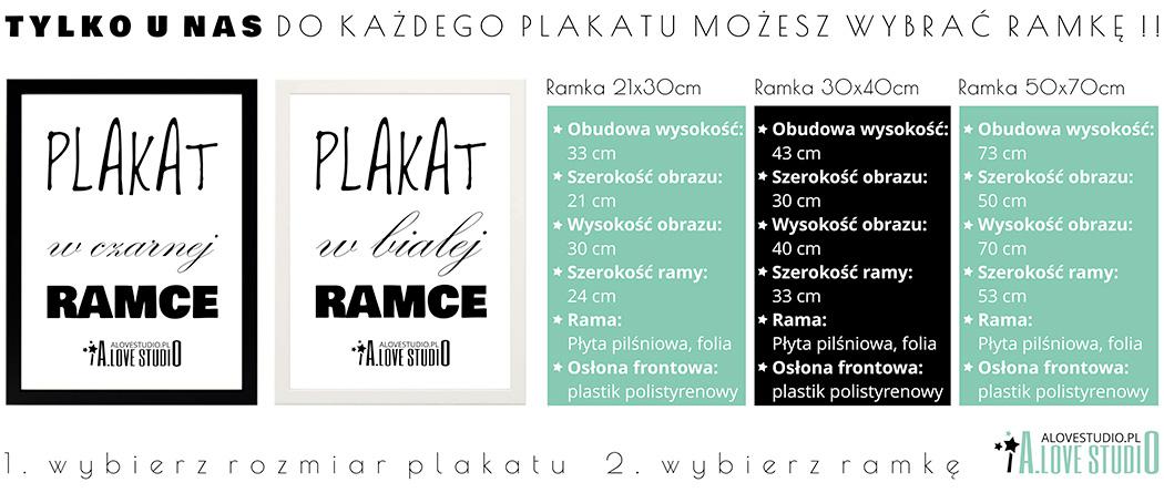 baner plakaty dla dzieci ramki alovestudio.pl