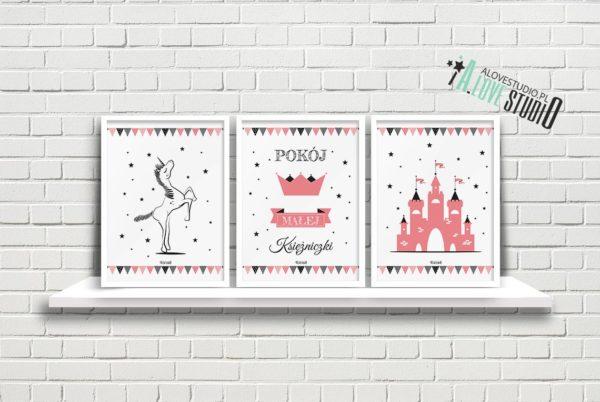 Plakaty dla dzieci księżniczka pokój małej księżniczki a