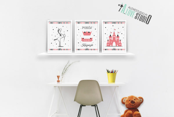 Plakaty dla dzieci księżniczka pokój małej księżniczki b