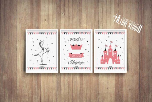 Plakaty dla dzieci księżniczka pokój małej księżniczki c
