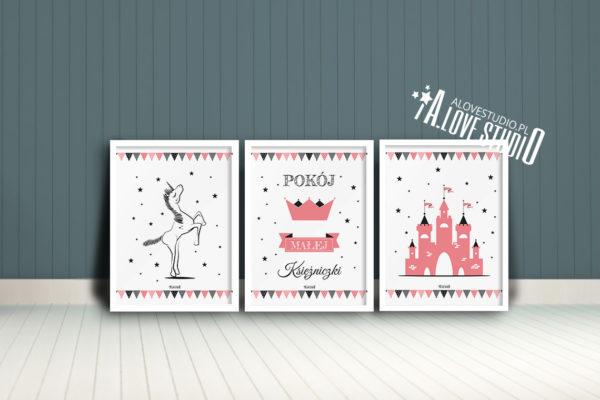 Plakaty dla dzieci księżniczka pokój małej księżniczki d