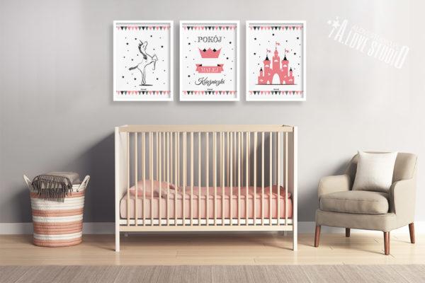 Plakaty dla dzieci księżniczka pokój małej księżniczki e