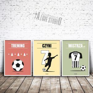 plakaty piłkarz dla dzieci piłkarskie trening czyni mistrza 3