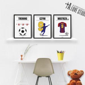 Plakaty piłkarskie do pokoju chłopca, plakaty piłkarz b