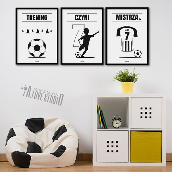 plakaty piłkarz dla dzieci piłkarskie pokój chłopca 2