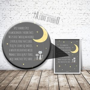 Plakaty obrazki dla dzieci śpij skarbie kotki alovestudio 2