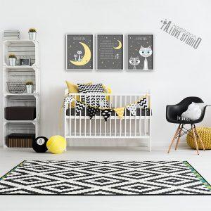 Plakaty obrazki dla dzieci śpij skarbie kotki alovestudio 3