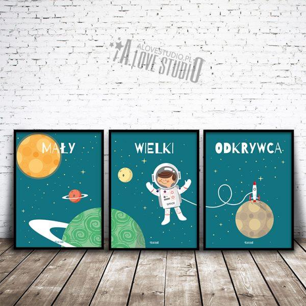 Mały wielki odkrywca plakaty dla dzieci kosmos 1
