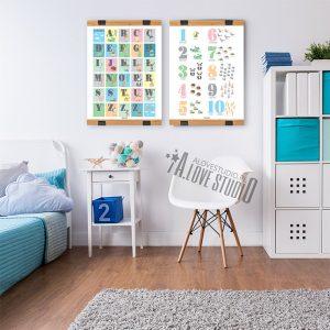 Alfabet dla dzieci abecadło cyferki liczby plakat laminat alovestudio pl 2