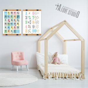 Alfabet dla dzieci abecadło cyferki liczby plakat laminat alovestudio pl 3