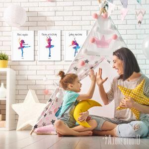 plakaty dla dzieci baletnica ballerina alovestuido