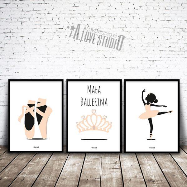 plakaty dla dzieci mała ballerina alovestudio 1