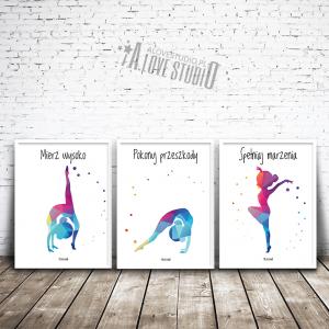 Plakaty gimnastyka dla dzieci mała akrobatka alovestudio pl 1