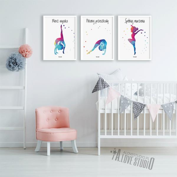 Plakaty gimnastyka dla dzieci mała akrobatka alovestudio pl 2