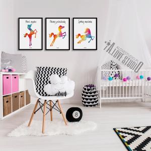Plakaty obrazki dla dzieci koń konie spełniaj marzenia alovestudio 2