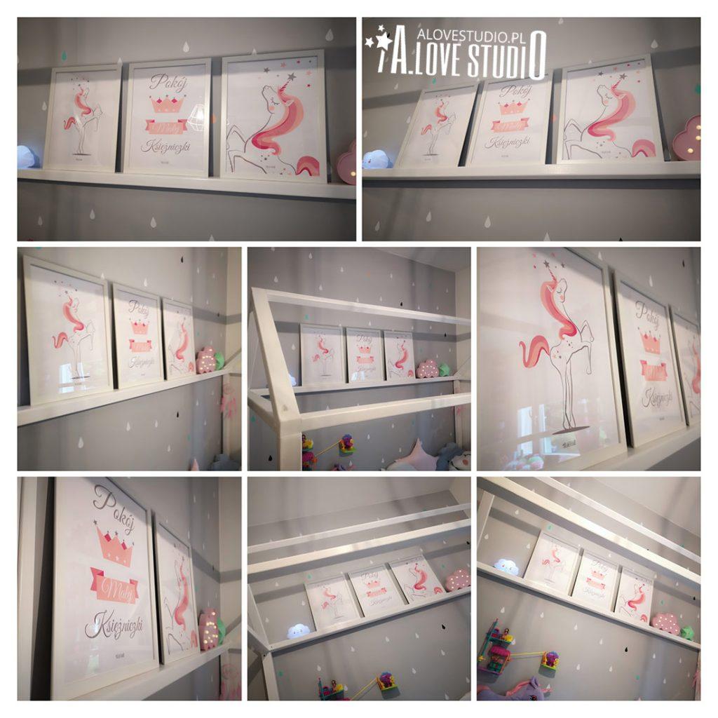 Plakaty z jednorożcem dla małej ksieżniczki alovestudio pl 2