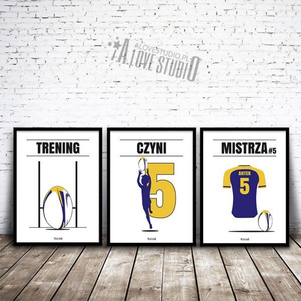 Plakaty dla dzieci i młodzieży rugby personalizowane alovestudio pl