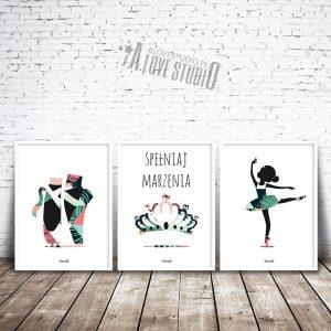 Plakaty dla dzieci pokój dziewczynka baletnica ballerina vb alovestudio pl 1