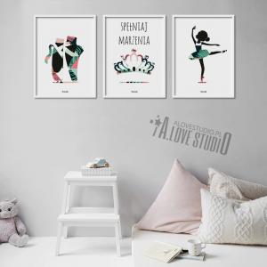 Plakaty dla dzieci pokój dziewczynka baletnica ballerina vb alovestudio pl 2