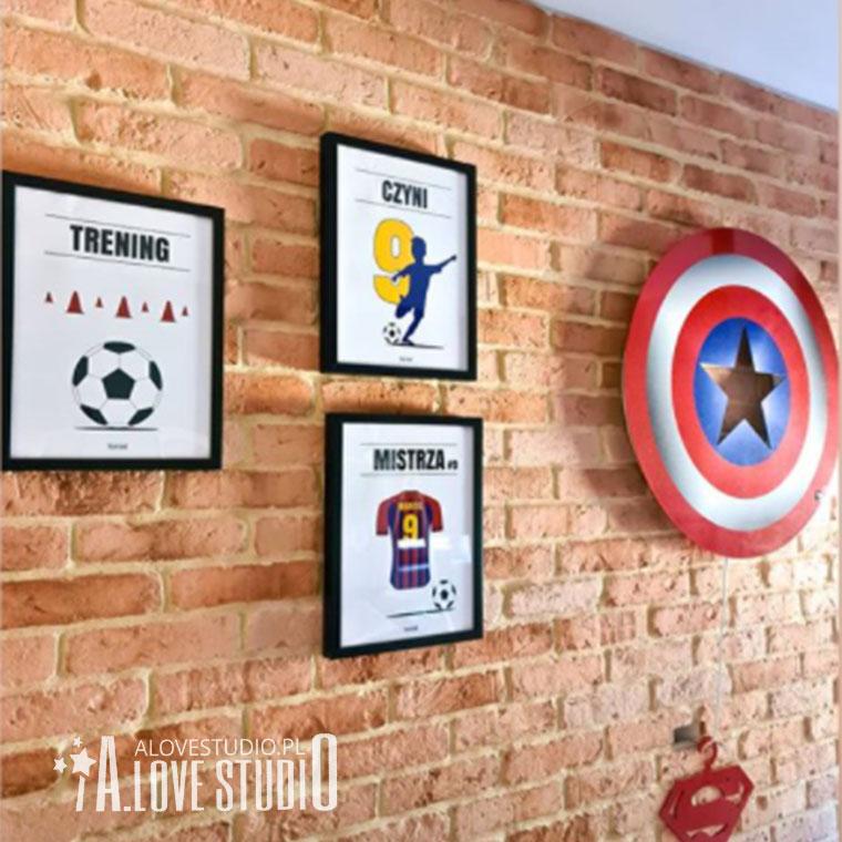 www.alovestudio.pl plakaty piłkarskie dla dzieci chłopca