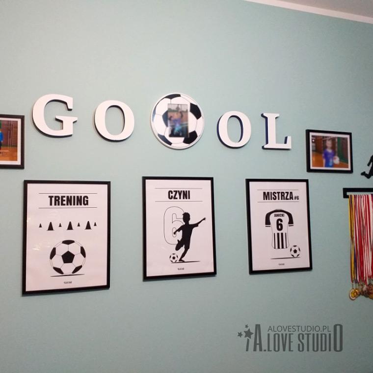 Plakaty piłka piłkarz dla dzieci pokój chłopca alovestudio pl