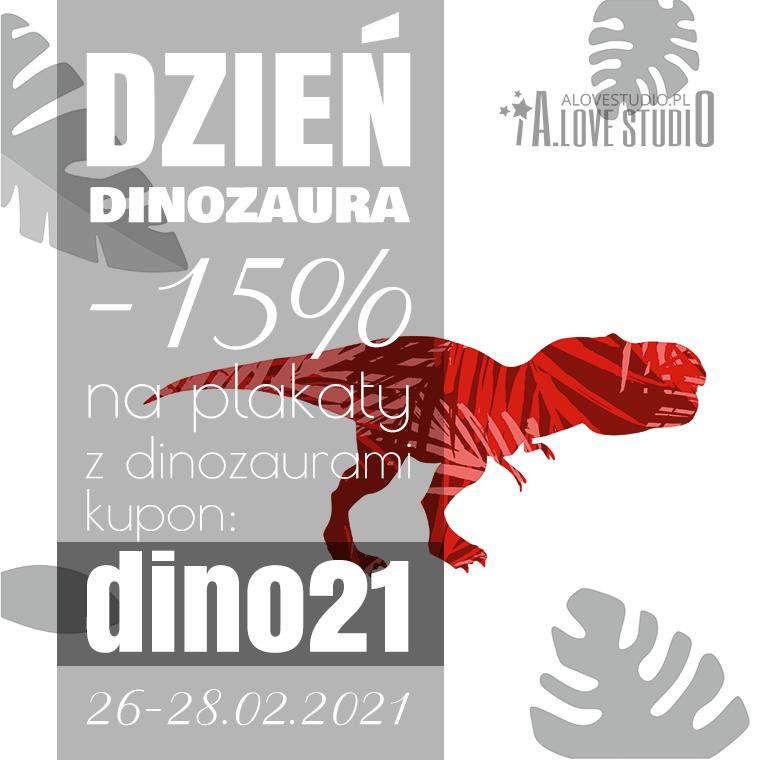 www.alovestudio.pl popup dzień dinozaura plakaty dla dzieci dinozaury