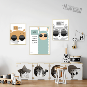 www.alovestudio.pl plakaty obrazki dla dzieci lis obrazek plakat lama szop 2